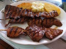 comida peruana criolla anticuchos!!!!