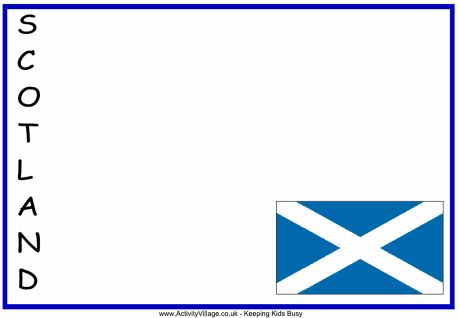 Scotland acrostic poem printable - four versions. Useful as writing frames too.
