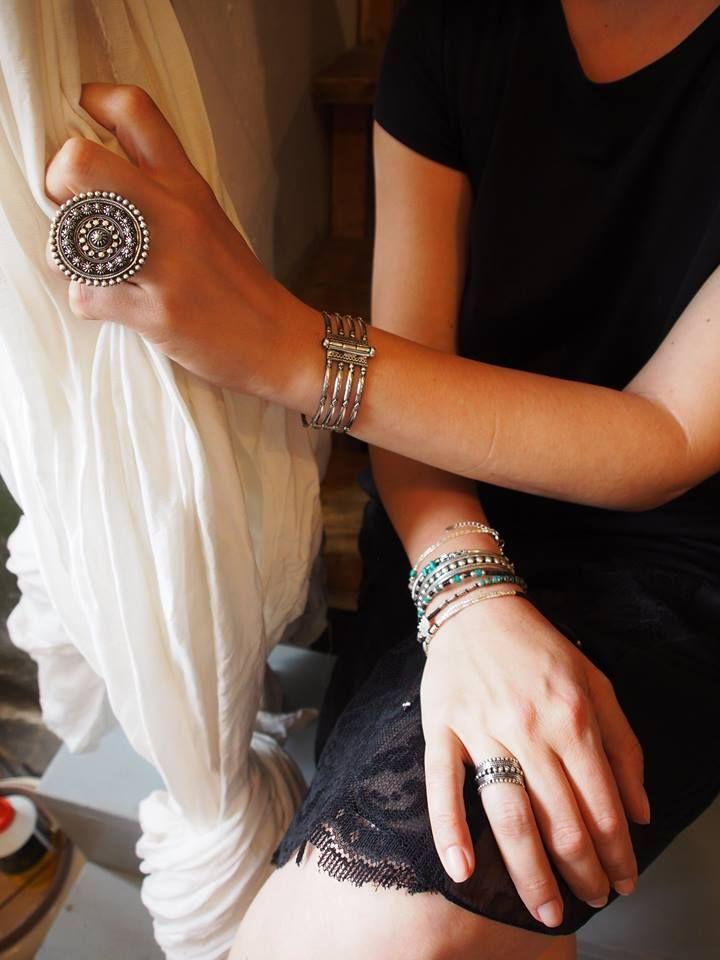 #metaphora #silverjewelry #bracelet #rings #thailand