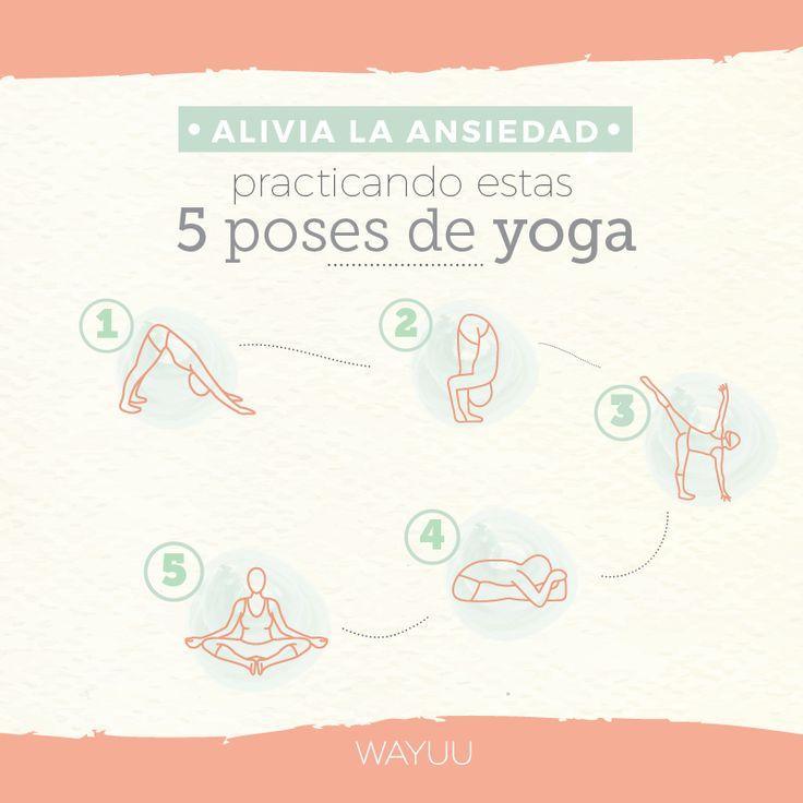 Con estas 5 posiciones de yoga podrás aliviar las tensiones y preocupaciones que te hacen sentir ansioso✨ ¡10 minutos son suficientes para ponerlas en práctica y sentirte mejor!