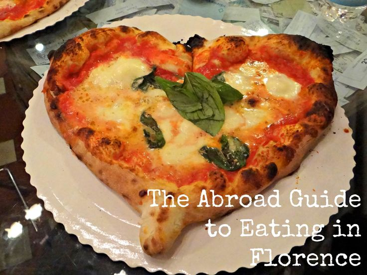 Food suggestions for Florence. (I'm dying over the heart-shaped pizza!)