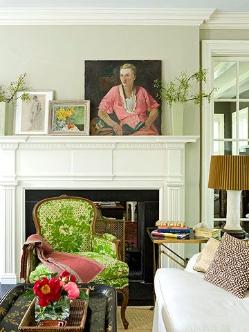 traditional elegance, green chair pop