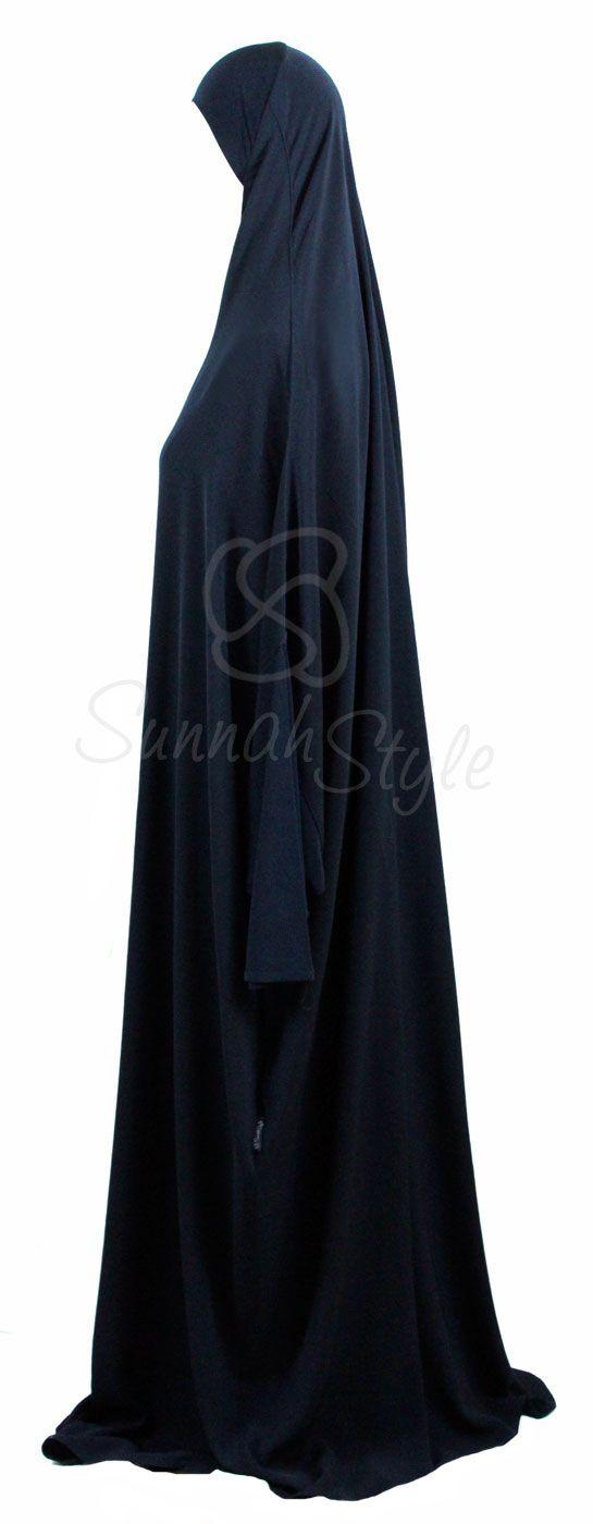 Essential Overhead Abaya (Navy Blue) by Sunnah Style #SunnahStyle #jilbab #overheadabaya #abayastyle #Islamicclothing