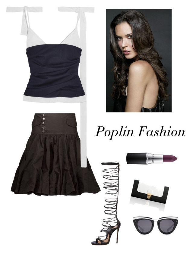 """""""Poplin Look for Summer"""" by kotnourka ❤ liked on Polyvore featuring Isabel Marant, Jacquemus, Dsquared2, Jurekka, MAC Cosmetics and HOOK LDN"""