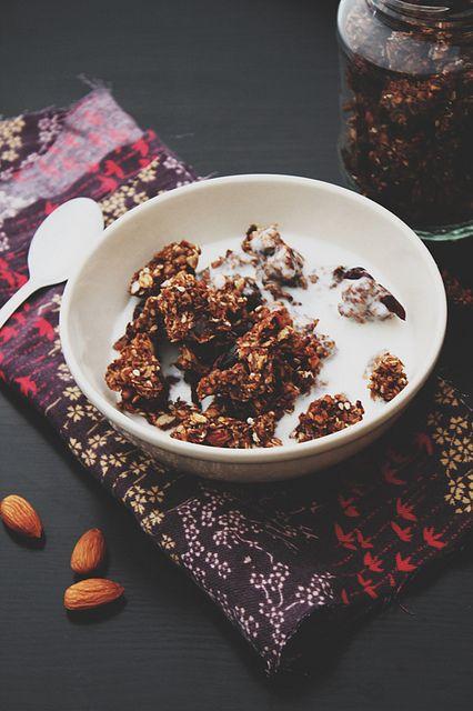 Apple Chocolate Granola -healthy & yummy breakfast