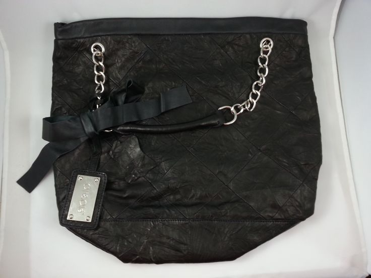 Oli & Ole tote hobo bag side view with ribbon