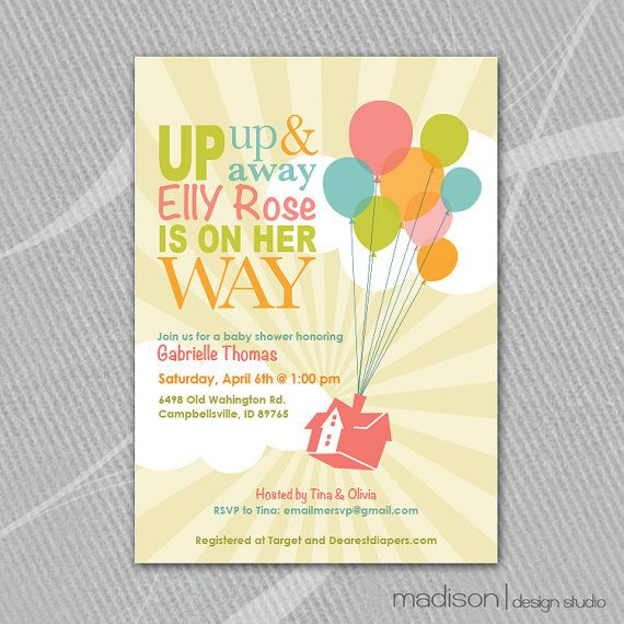 up inspired disney baby shower invitation printable sunshine