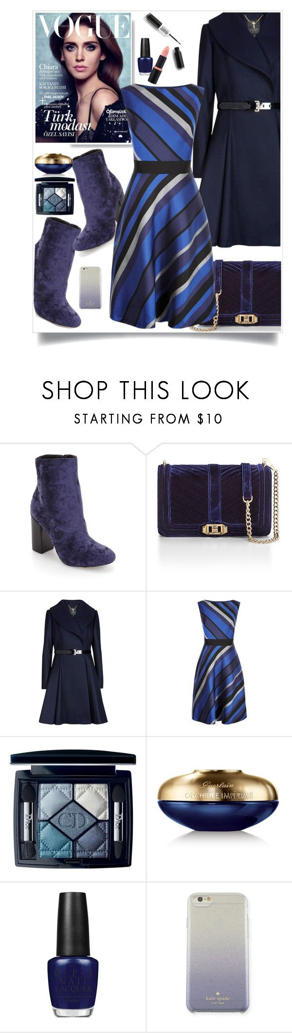 """Workwear"" by hani-bgd ❤ liked on Polyvore featuring Rebecca Minkoff, Ted Baker, Fenn Wright Manson, Christian Dior, Guerlain, OPI, Kate Spade and WorkWear"