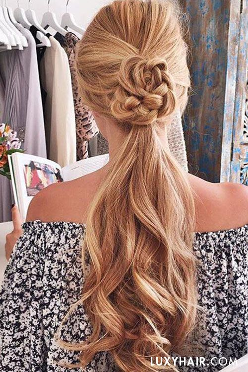 Cute summer ponytail on the lovely @katsfilms with her Dirty Blonde #luxyhairextensions.