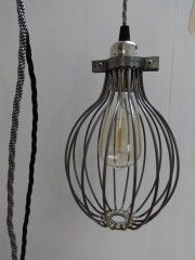 Steel Caged Pendant | Trend | sugdenanddaughters.co.uk | Warehouse Home Design Magazine