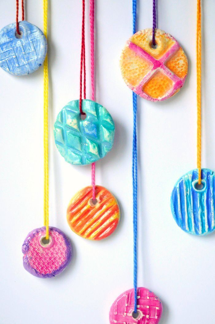 DIY Texture Clay Pendants