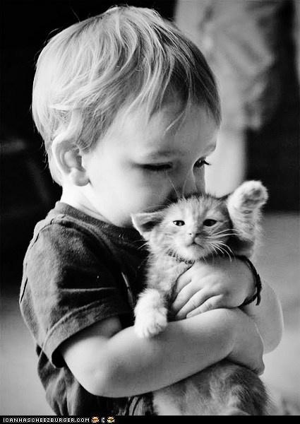 little hands, little paws, sweet hug
