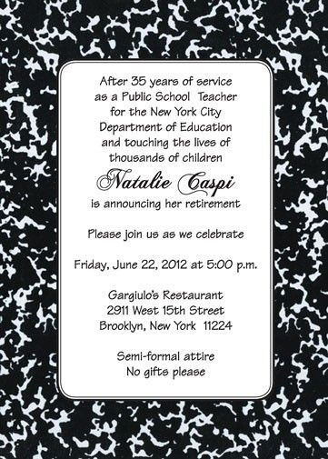 Best Teacher Retirement Party Invitation Wording Images On