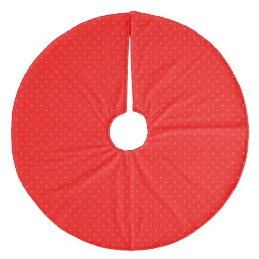 Tree Skirt Red with Golden Dots. Boom kleed/-rok rood met goudkleurige stippen. Diameter: 111,76 cm.