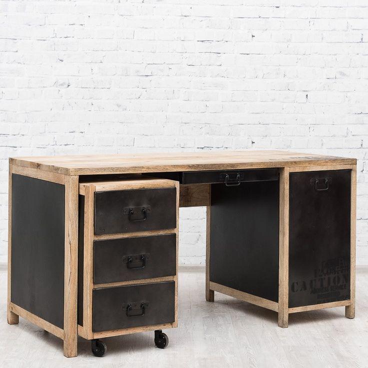 Newton большой письменный стол с тумбочкой