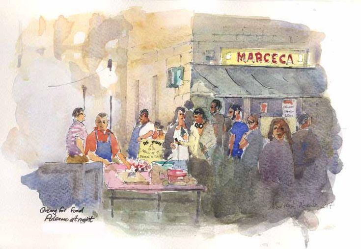 Vucceriria night food markrt, Palermo, Sicily