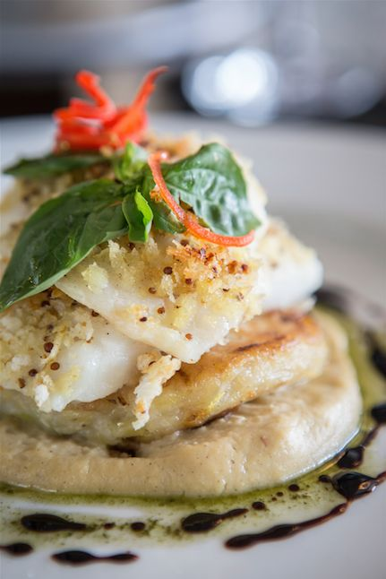 Not sure what to have for lunch? How about roasted grouper with a mustard & citrus crust, served on a potato & chive rosti and cauliflower cream purée - guaranteed to satisfy your appetite.