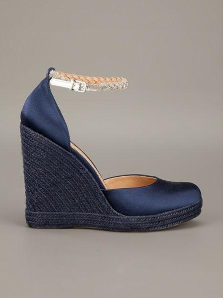 Blue Wedges | Ferragamo Blue Wedge Shoe
