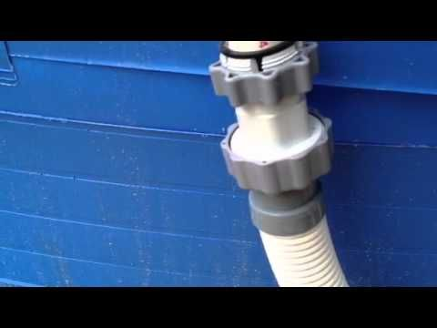Hose hook up for above ground pool