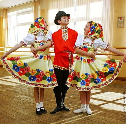 сарафан Иван да Марья - танцевальный костюм,народный костюм,русский стиль