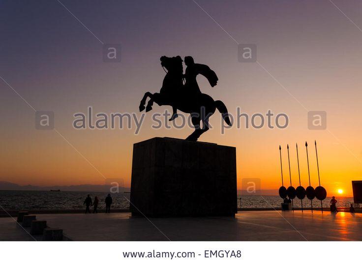 sunset in Thessaloniki Stock Photo