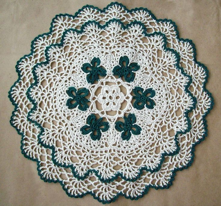 Free Crochet Shamrock Doily Pattern : Shamrock Doily Doily Making Monster Pinterest