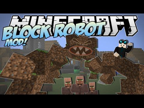 Minecraft | BLOCK ROBOT MOD! (Ride and Stomp with the Block Monster!) | Mod Showcase - YouTube