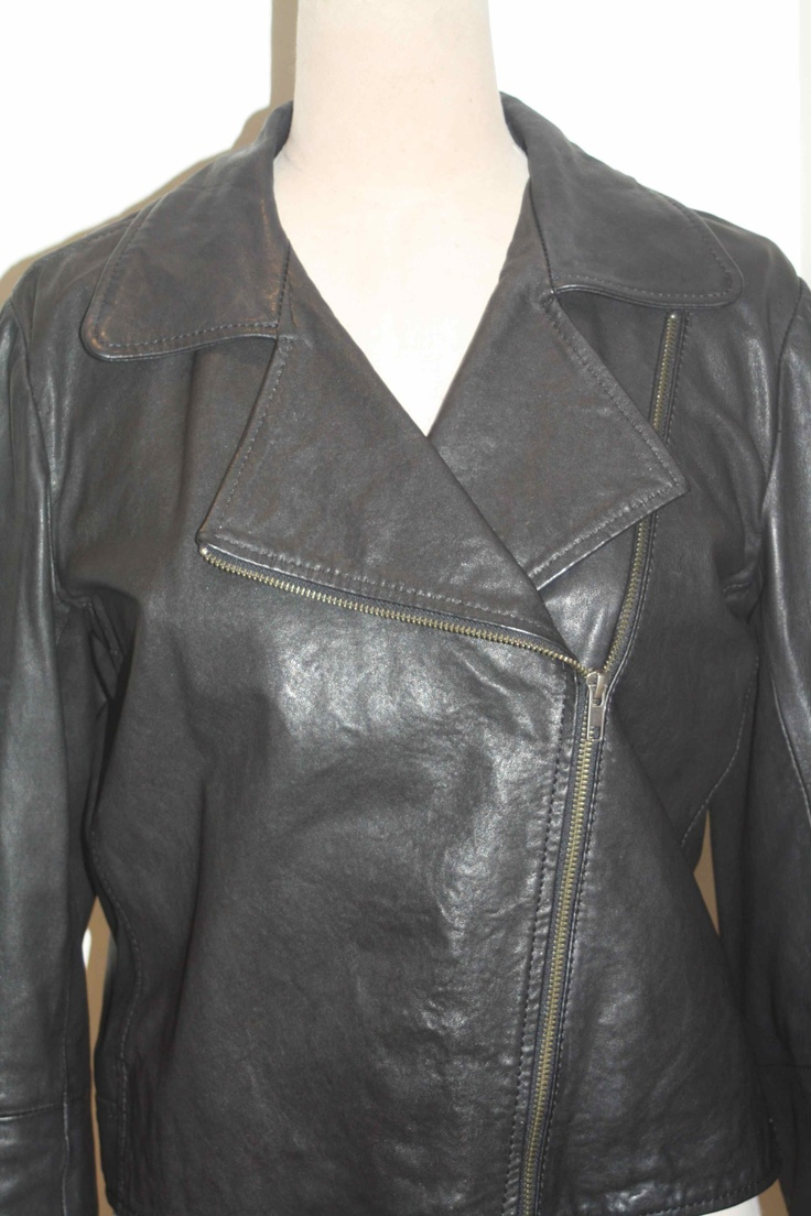 Fantastic brand new Country Road leather biker jacket for just $250 at BFW!