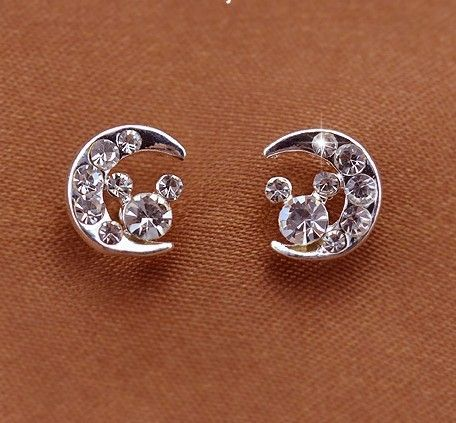 Moon diamond earrings oh my I've found my favorite theme...and cheap too...I'll take