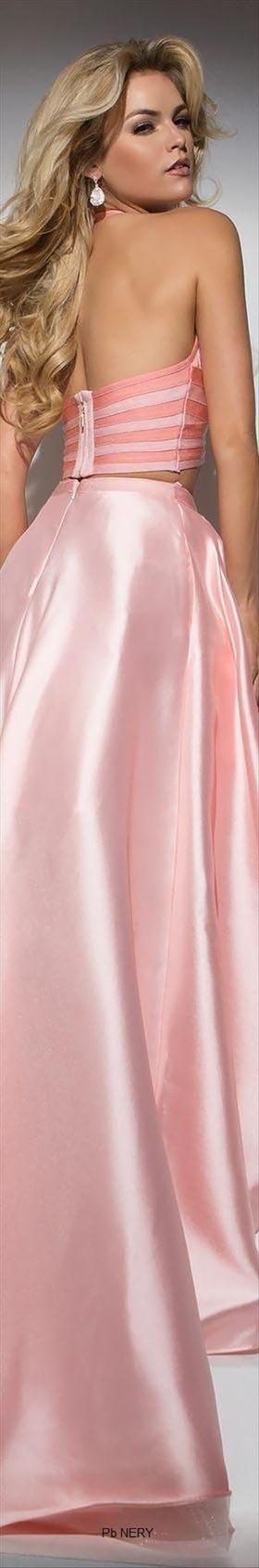 Tony Bowls-Shimmer Fantasy Halter Evening Dress by Tony Bowls