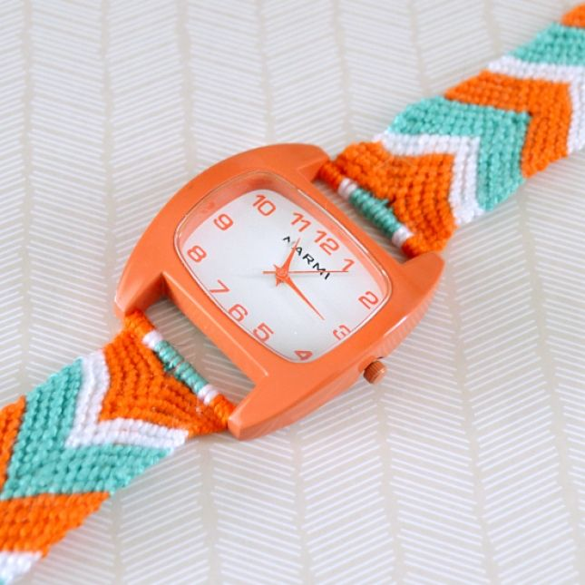 Make your own friendship bracelet watch with this tutorial.