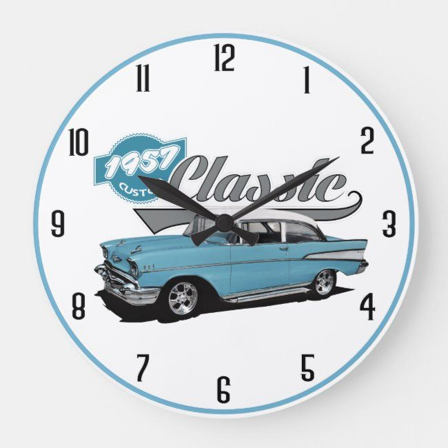 1957 Classic Large Clock Zazzle Com In 2020 Large Clock Clock Classic