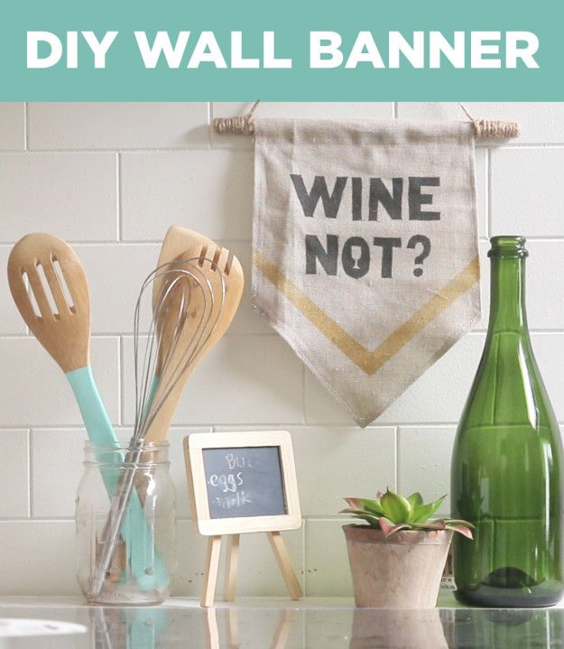 Dress Up Boring Dorm Room Walls With These DIY Banners