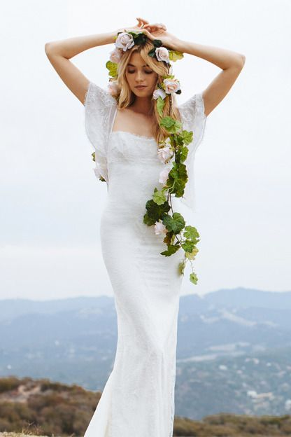 This gown is giving us Boho fever: http://www.stylemepretty.com/lookbook/designer/katie-may/ #SMPLookBook