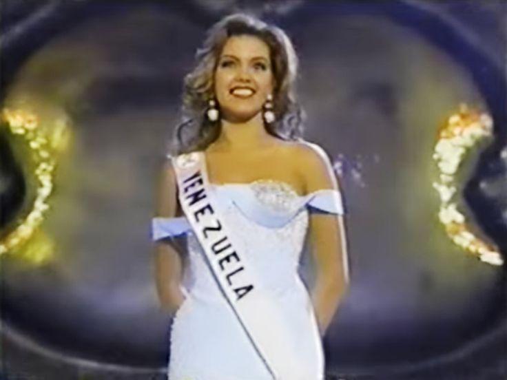 Alicia Machado Miss Venezuela durante, su presentacion en Traje de Gala, en el Miss Universe 1996, desde las Vegas . by Antoni Azocar..