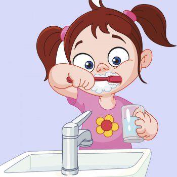 Poesía para enseñar a los niños a lavar los dientes.