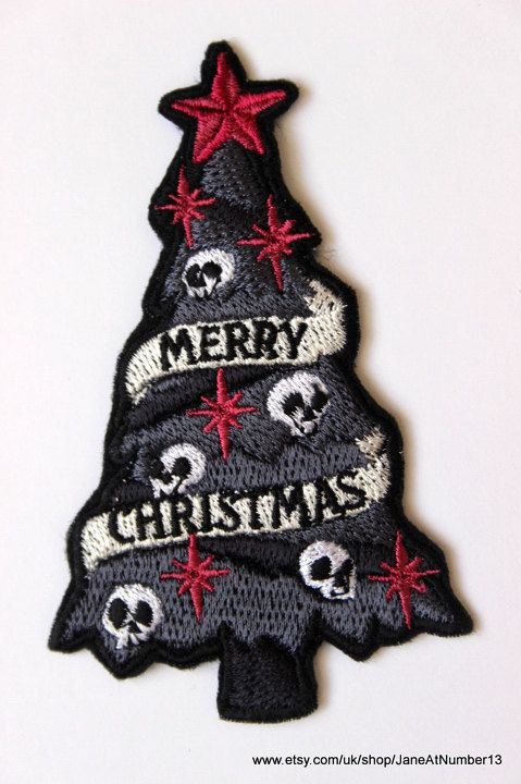 Skull christmas tree patchalternative christmas by JaneAtNumber13