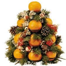 albero di Natale con arance Buon Natale da Madre Natura del Web