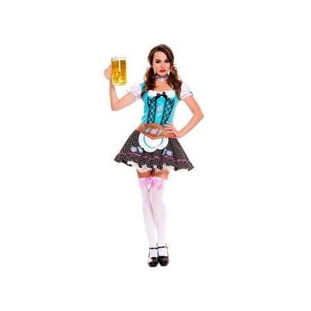 Sky Hosiery Miss Oktoberfest Costume 70544 Blue, Size: Medium/Large
