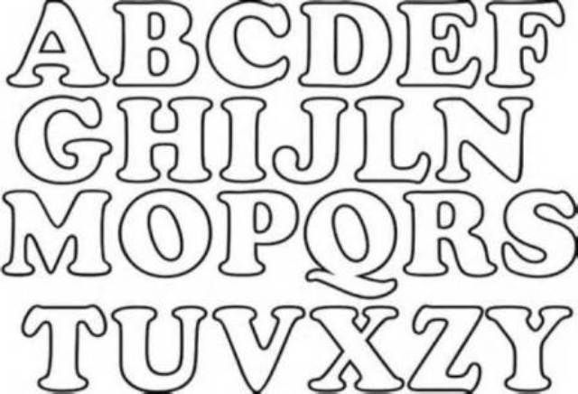Moldes letras abecedario grandes para imprimir