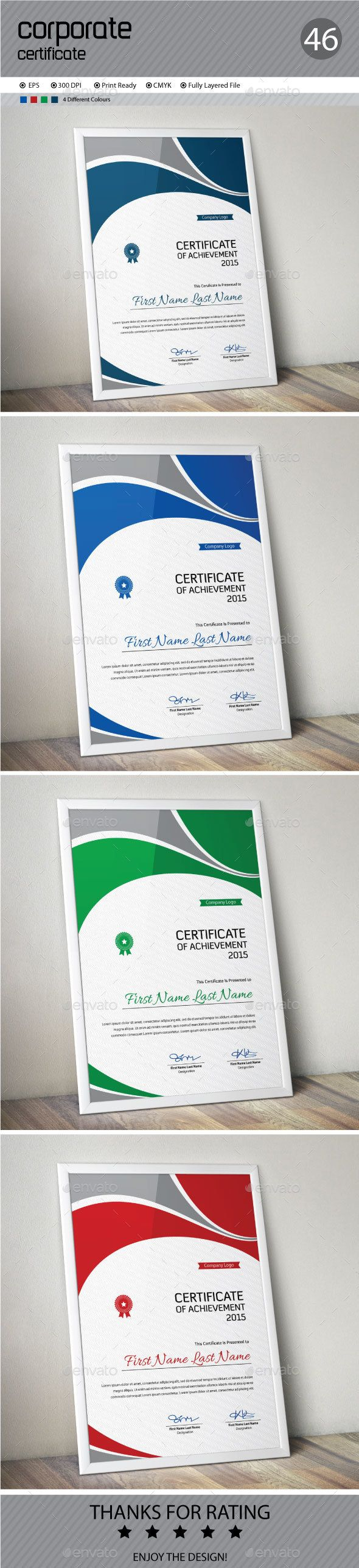 29 best certificate templates images on pinterest certificate certificate template vector eps download here httpgraphicriver yadclub Gallery