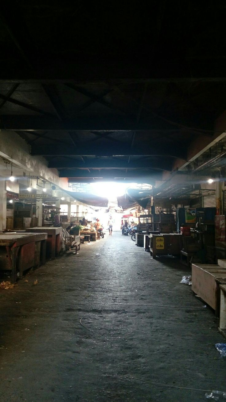 The one of some traditional markets in Cirebon