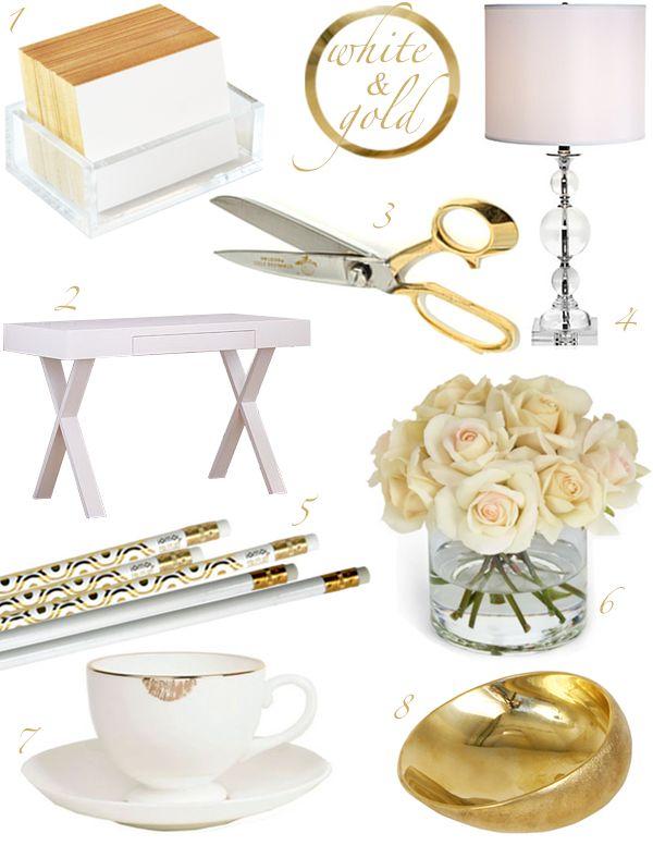 Resultado de imagem para home office gold mint