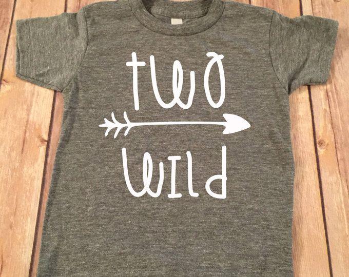 Twee wilde verjaardag Shirt, 2de verjaardag Shirt, 2de verjaardag jongen Shirt, jongens verjaardag top, shirt verjaardag, tweede verjaardag jongen Shirt