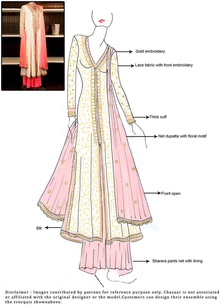 #DIY Cream #Sharara Suit