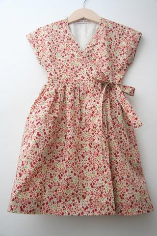 Vintage style 1940s Wrap dress in Libertys Phoebe