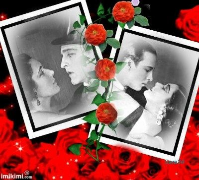 John Barrymore (left) and Rudolph Valentino (right). Actress Nita Naldi has met John and Rudolph. She would say that John and Rudolph were the most handsome men on earth. :)