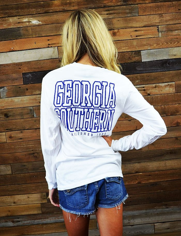 Enjoy this classic Georgia Southern Comfort Colors long sleeved t-shirt all fall and winter. It is perfect for game day or hanging out around campus. GATA!