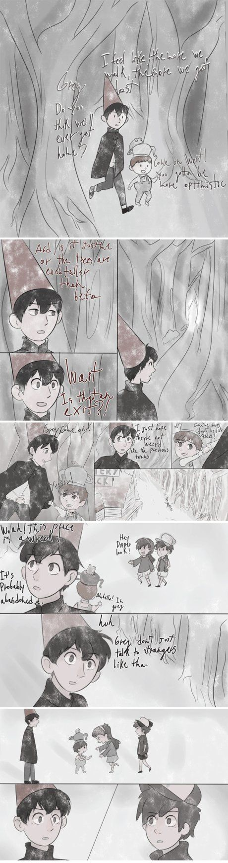 aahhh a comic i made because i loved over the garden wall so so much. And it just reminded me soo much of gf Also in my tumblr! x