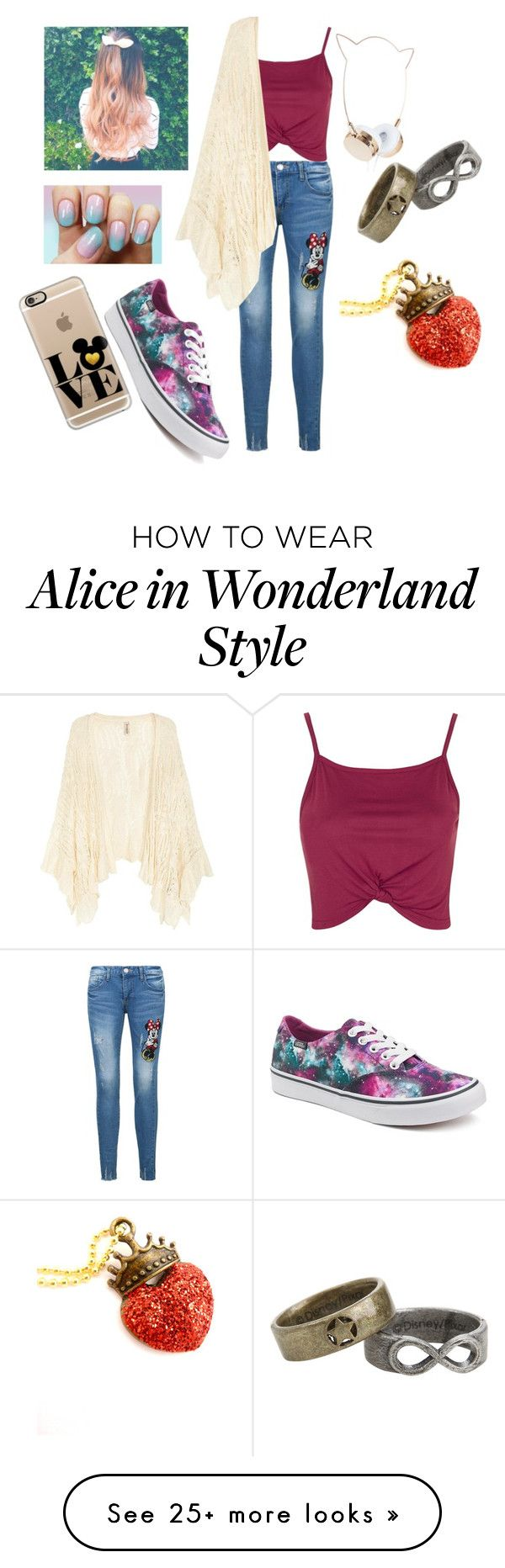 """""""Untitled #140"""" by indianna28-2002 on Polyvore featuring Disney, Topshop, Vans and Casetify"""